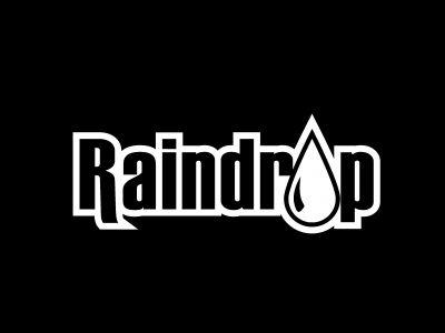 Raindrop Logo Bw On Black